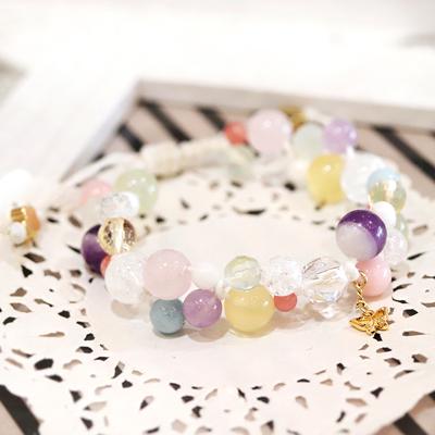 1点限り★色とりどりの石が咲き誇る♪フラワーガーデンブレス-021