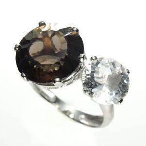 [数量限定]オンリーワンデザインリング<スモーキークォーツ&水晶>213