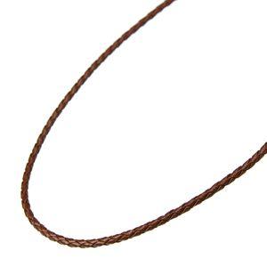 【チェーン&革紐】牛革組みひもネックレス<45cm>
