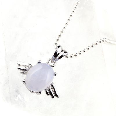 【アウトレット】天使の羽ペンダント<ブルーカルセドニー>003 ※チェーン別売