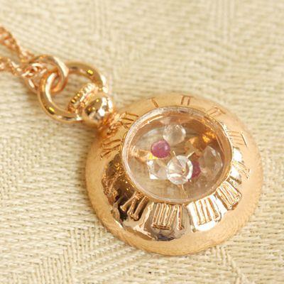 【ラスト1点】[数量限定]Alice〜アリス〜ペンダントピンクゴールド<ルビー&ハーキマーダイヤモンド>